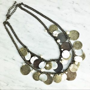 Chico's Coin Mother of Pearl Necklace